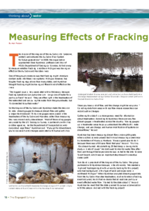 Measuring Effects of Fracking on Northern Michigan Rivers