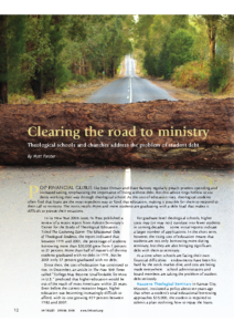 Clearing the Road to Ministry: Theological Schools and Churches Address the Problem of Student Debt